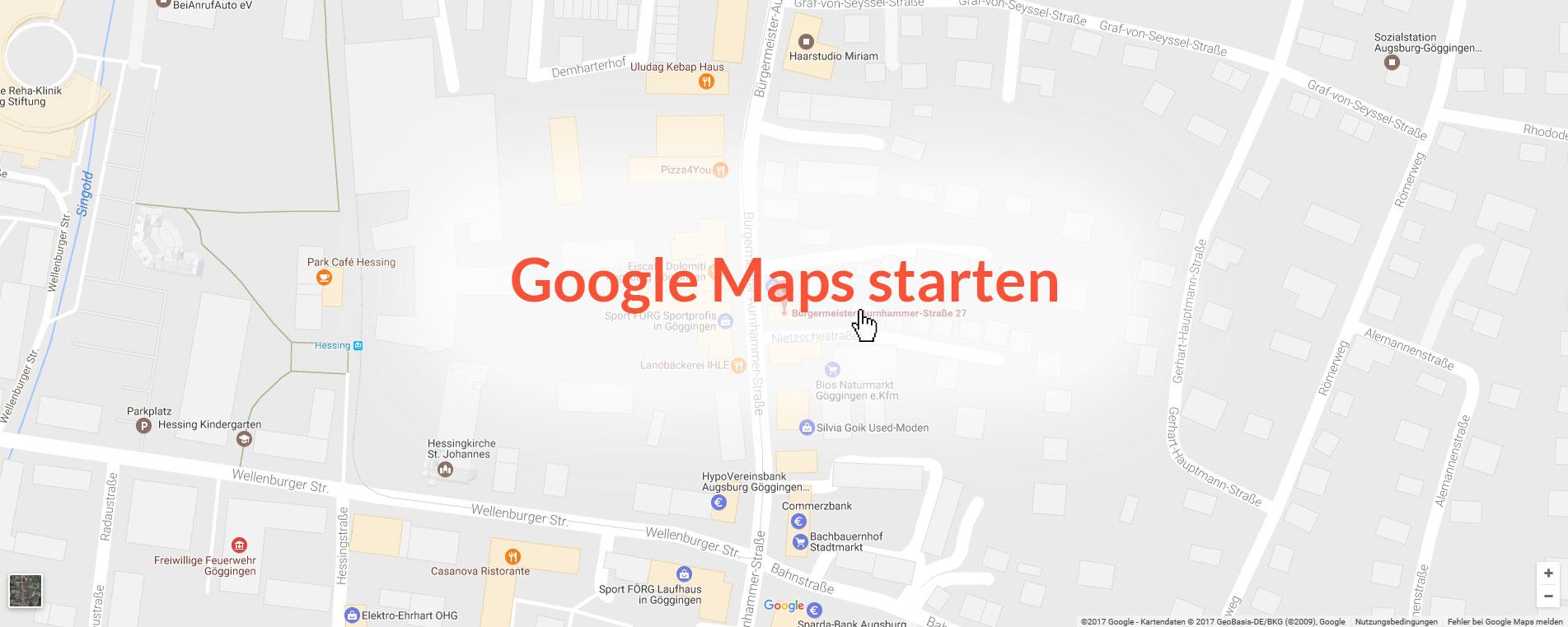 Starten Sie Google Maps mit einem Klick